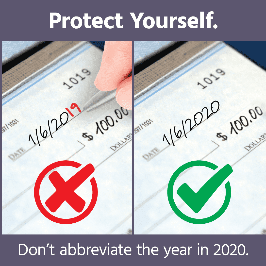 Avoid Trouble and Don't Abbreviate the Date in 2020!